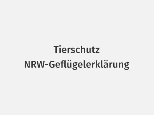 Tierschutz – NRW-Geflügelerklärung